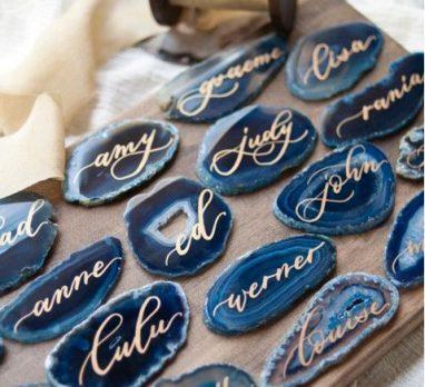 Beautiful Blue Agate Wedding Inspiration. For more wedding color ideas, visit burghbrides.com.