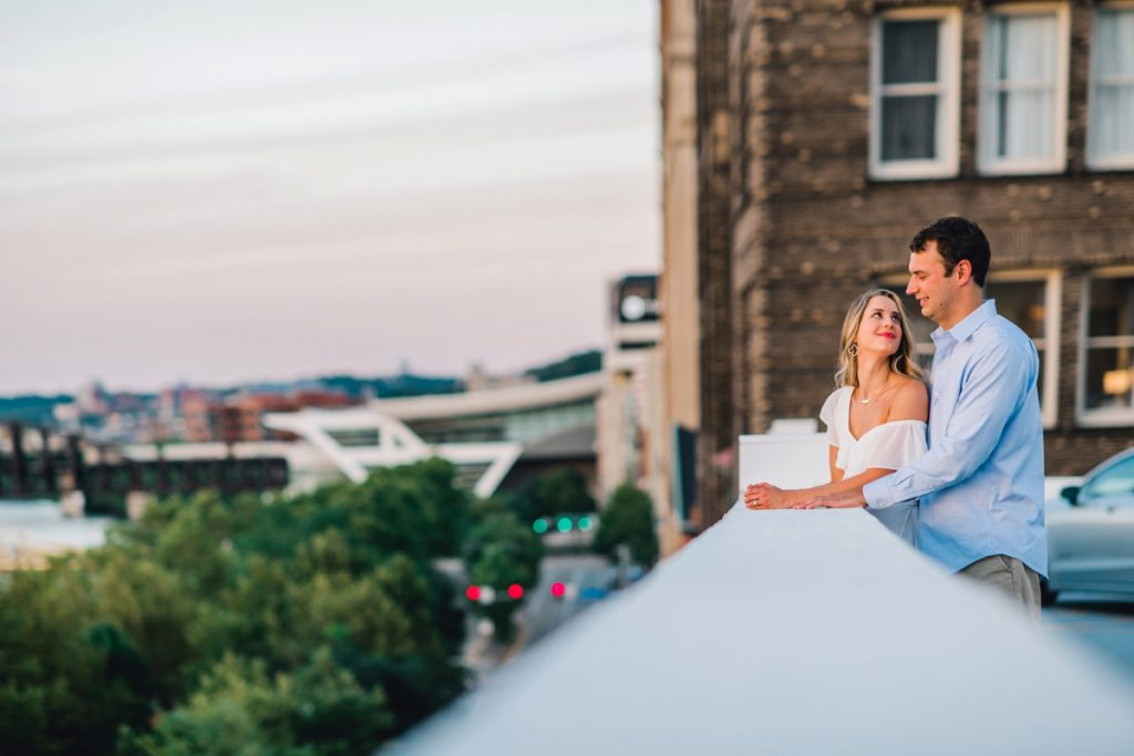 Killer Downtown Pittsburgh Engagement Session. For more engagement photo ideas, visit burghbrides.com!