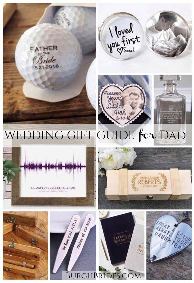 Father of the Bride or Groom Gift Ideas. For more wedding inspiration, visit burghbrides.com!