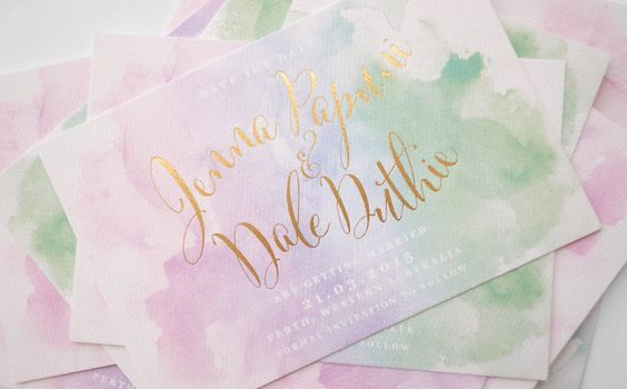 Watercolor Wedding Inspiration from Burgh Brides. For more wedding color palette ideas, visit burghbrides.com!