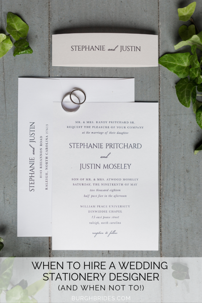 Wedding Stationery Designers: 9 Reasons to Hire One (and When Not to). For more wedding planning tips, visit burghbrides.com!