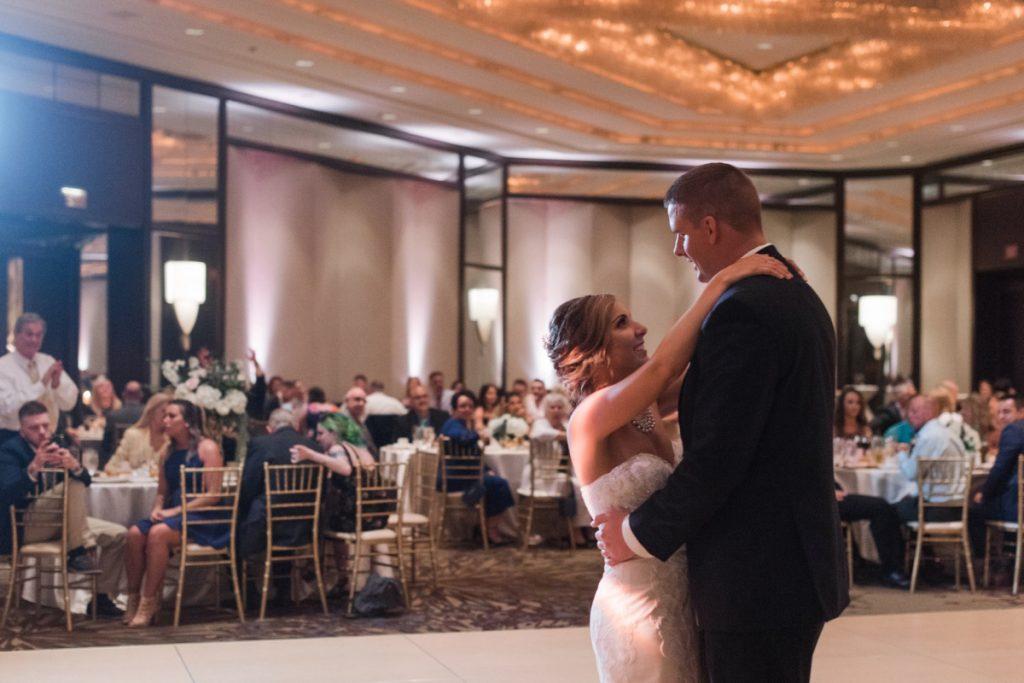 Casual Yet Elegant Ballroom Wedding at the Westin Convention Center. For more wedding inspiration, visit burghbrides.com!