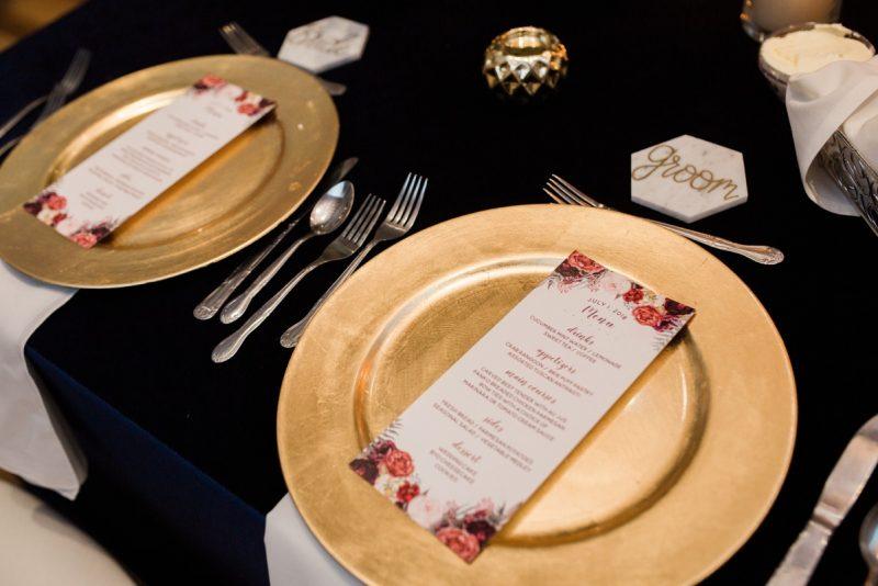 Navy, Burgundy, & Gold Pittsburgh Wedding at SLATE. For more wedding inspiration, visit burghbrides.com!
