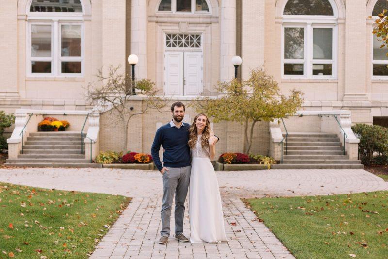 Washington & Jefferson College Engagement Session. For more engagement photo ideas, visit burghbrides.com!