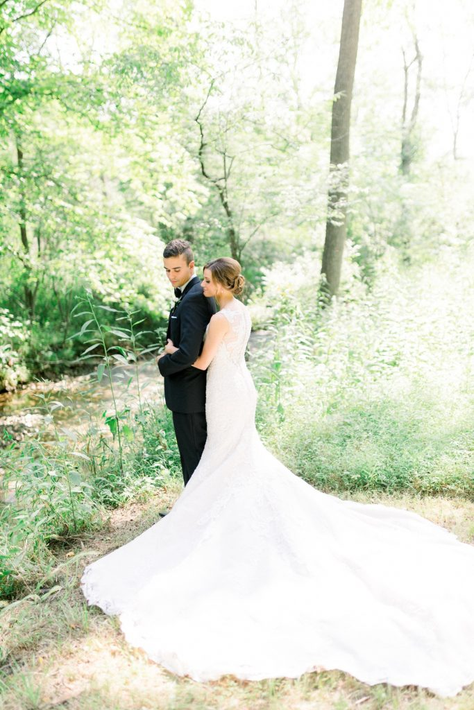 Romantic Forest Wedding at the Event Center at Waterworks. For more wedding inspiration, visit burghbrides.com!