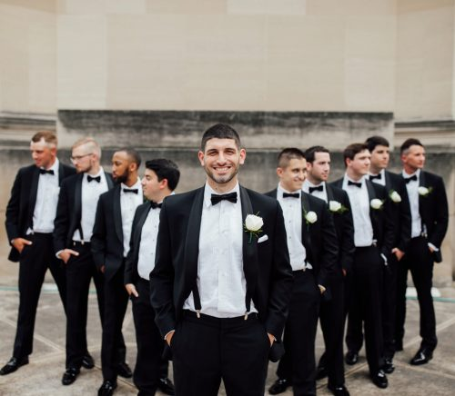 Timeless Black, White, & Gold Wedding at The Pennsylvanian. For more wedding ideas, visit burghbrides.com!