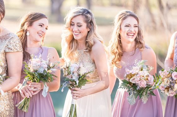 Pop the Bubbly for This Lavender & Champagne Wedding Inspiration. For more wedding color palette ideas, visit burghbrides.com!
