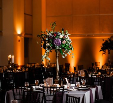 Modern Plum & Gray Circuit Center Wedding. For more contemporary wedding ideas, visit burghbrides.com!