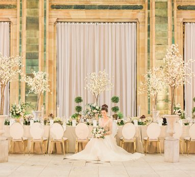 Luxurious Emerald Green & Gold Wedding Inspired Styled Shoot. For more luxury wedding ideas, visit burghbrides.com!