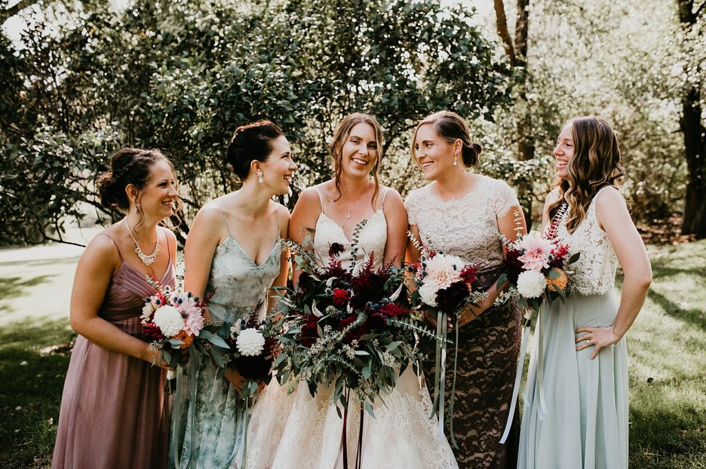 Vintage Fall Wedding at Bramblewood. For more fall wedding ideas, visit burghbrides.com!