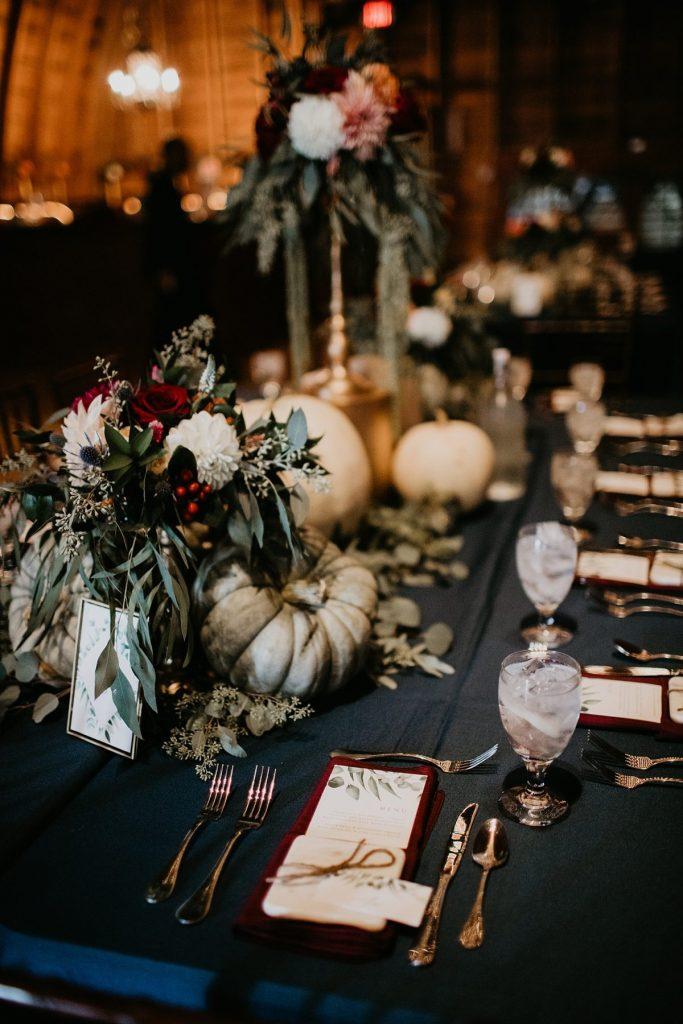 Vintage Fall Wedding at Bramblewood. For more fall wedding ideas, visit burghbrides.com!