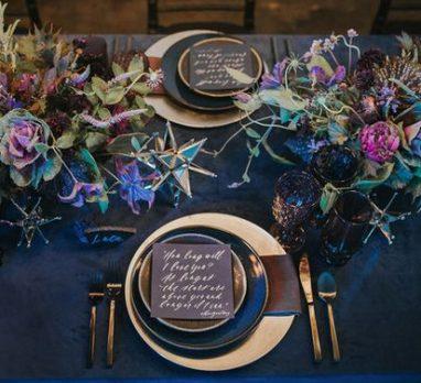 Ultra Violet, Rust, & Navy Wedding Inspiration. For more fall wedding color ideas, visit burghbrides.com!