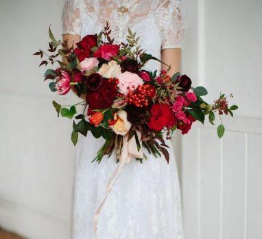 50 Shades of Red Wedding Inspiration. For more wedding color palette ideas, visit burghbrides.com!