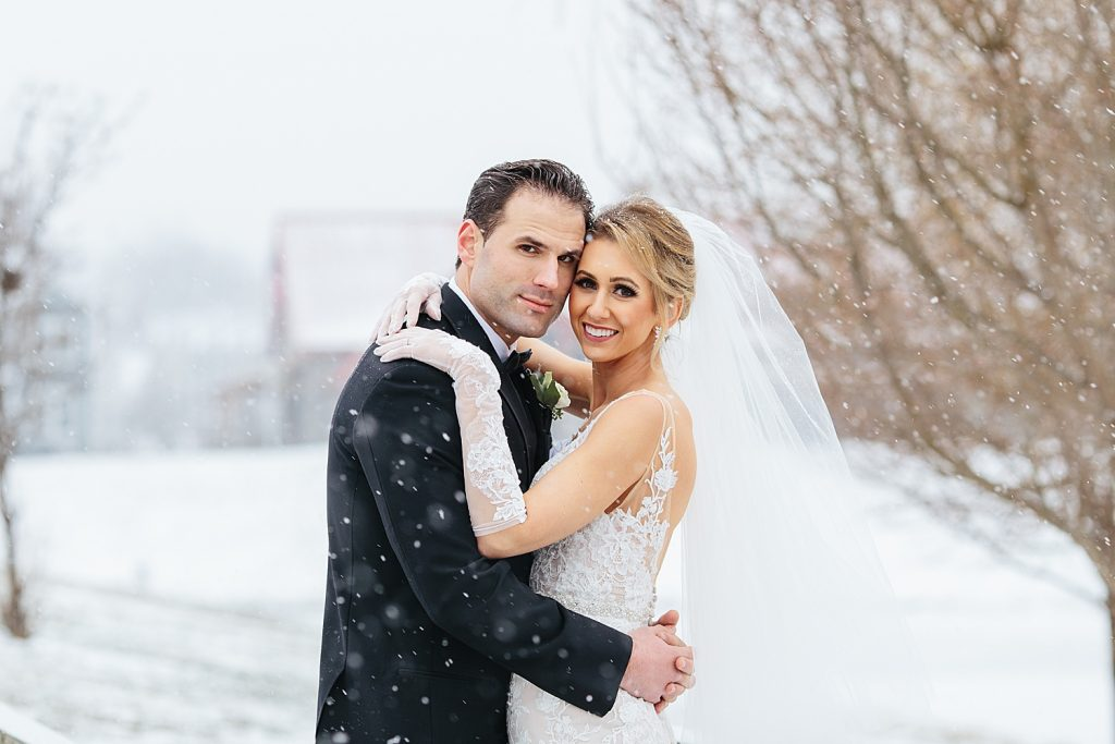 Sparkly Winter Wedding at the DoubleTree Cranberry. For more winter wedding ideas, visit burghbrides.com!